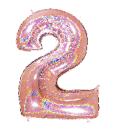 "40"" Number ""2"" Rose Gold Glitter Holographic Balloons"