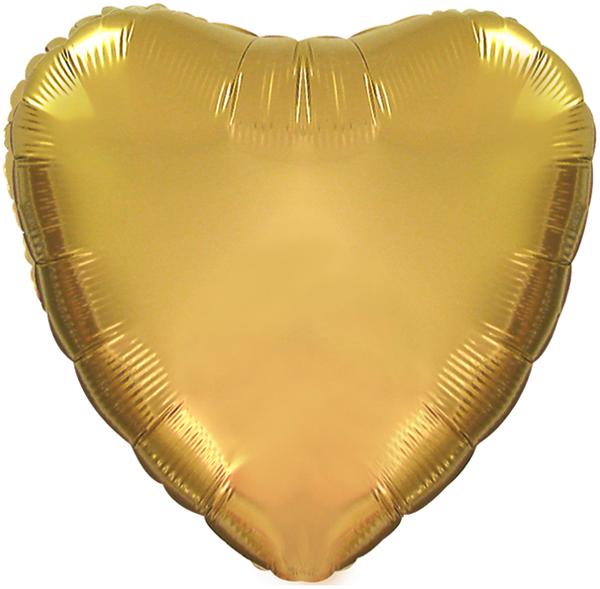 "18"" CTI Brand Antique Gold Heart"