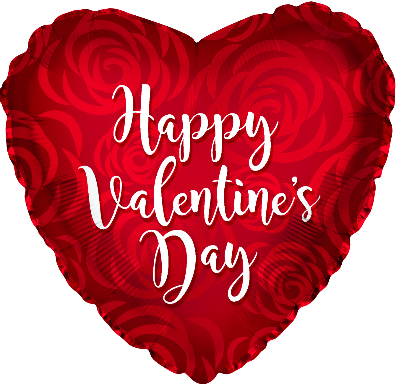"17"" Happy Valentine's Day Rose Petal Ptrn Foil Balloon"