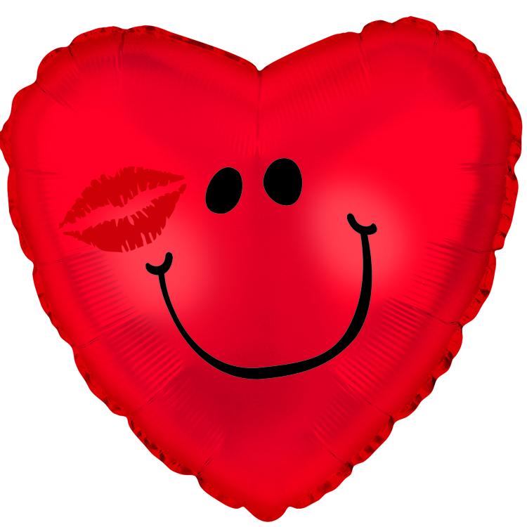 "18"" Smiley Heart Kissy"