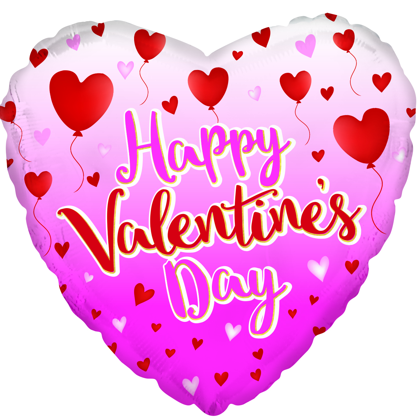 """9"""" Airfill Only Happy Valentine's Day Balloon Foil Balloon"""