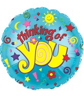 "9"" Think Of You Sun/Star Self Sealing Valve Foil Balloon"