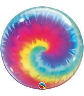 """22"""" Tie Dye Swirls Single Bubble Balloon"""