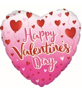 "18"" Happy Valentine's Day Balloon Hearts Balloon"