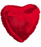 "9"" Red Heart Shaped Airfill Mylar Balloon"