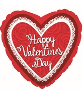 """9"""" Airfill Only Happy Valentine's Day Doi Love You Roses Foil Balloon"""