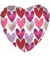 """9"""" Airfill Only Textured Heart Pattern Foil Balloon"""