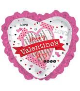 "32"" Happy Valentine's Day Banner Heart/Ruf Foil Balloon"