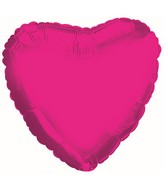 """4.5"""" Airfill Only Hot Pink Heart Foil Balloon"""