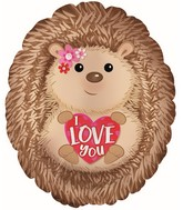 "20"" Hedge Hog I Love You Oval Foil Balloon"