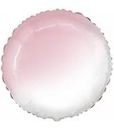 """18"""" Round Baby Gradient Pink Foil Balloon"""