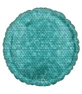 "18"" Ocean Blue Sequins Foil Balloon"