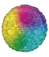 "18"" Rainbow Jewel Sequins Foil Balloon"