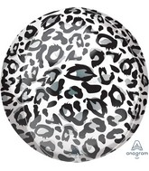 "16"" Snow Leopard Animalz Orbz Foil Balloon"