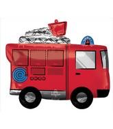 """31"""" Fire Truck SuperShape Foil Balloon"""