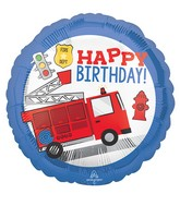 "18"" First Responder Happy Birthday Foil Balloon"