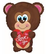 """22"""" Love You Blue Eyes Bear Shape"""