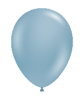 "24"" Blue Slate Latex Balloons 5 Count"