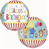 "16"" Orbz Circus Theme Birthday Balloon"