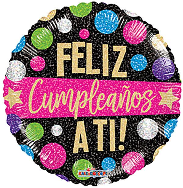 "18"" Feliz Cumpleanos A Ti! Foil Balloon"
