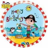 """18"""" Rachel Ellen – Birthday Pirate Licensed Balloon"""