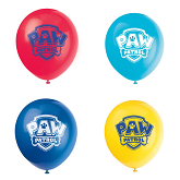 "12"" 8 Count Paw Patrol Latex Balloons 2 Sided"