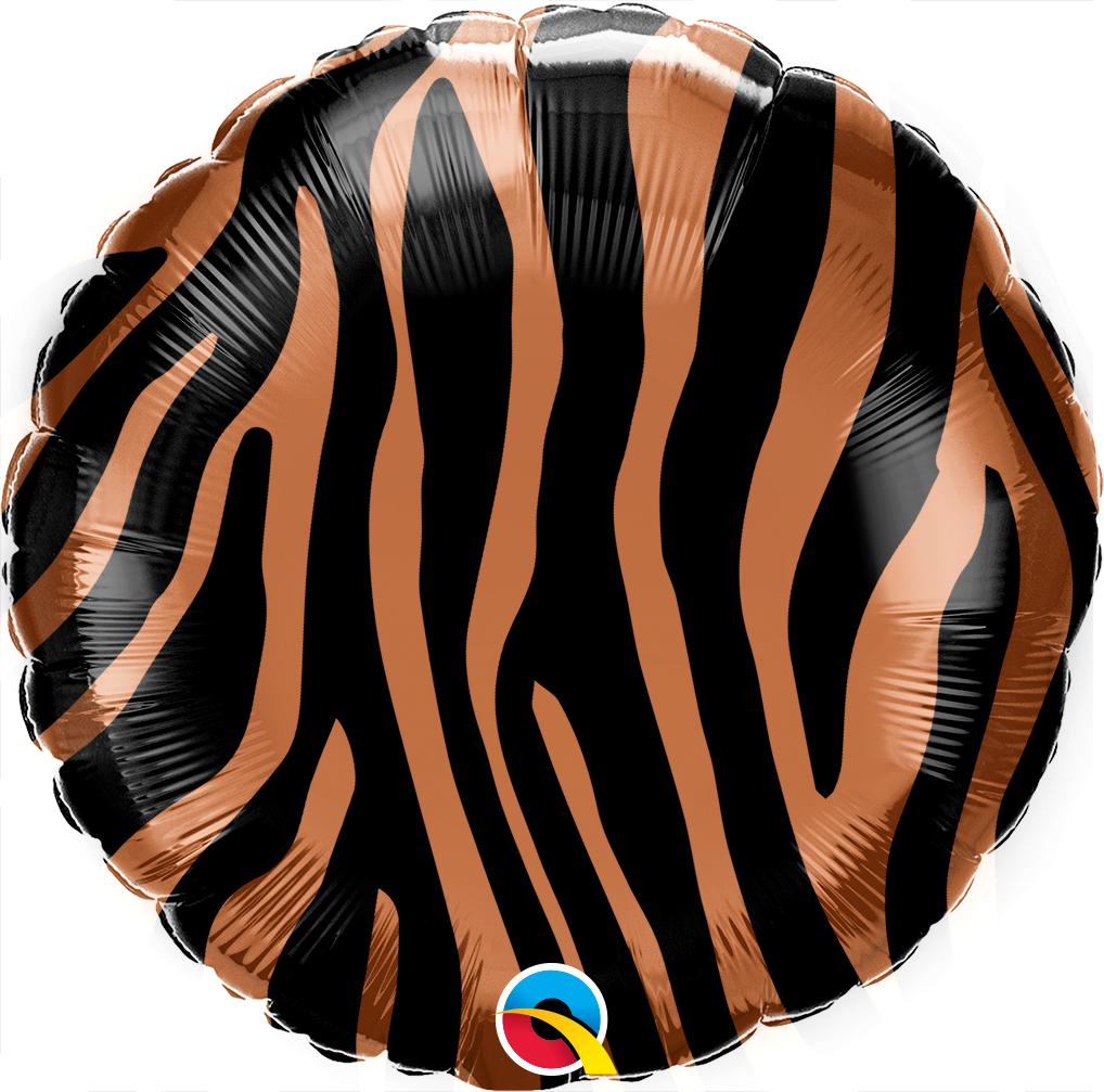 """18"""" Tiger Stripes Pattern Foil Balloon"""