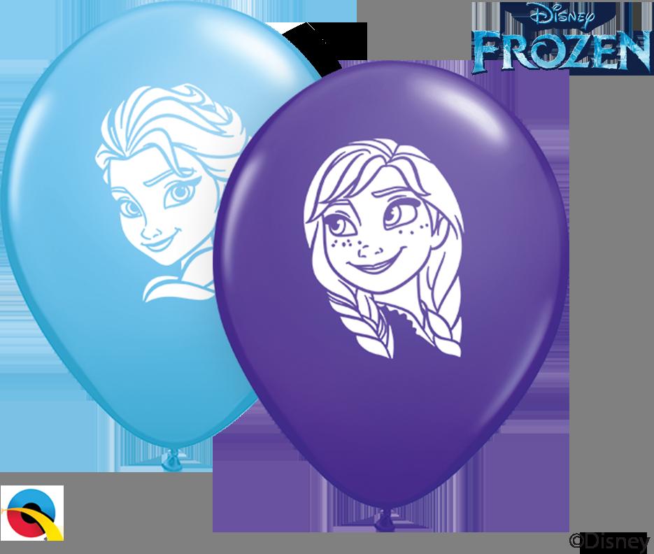 """5"""" Anna & Elsa Faces Latex Balloons (100 Per Bag)"""