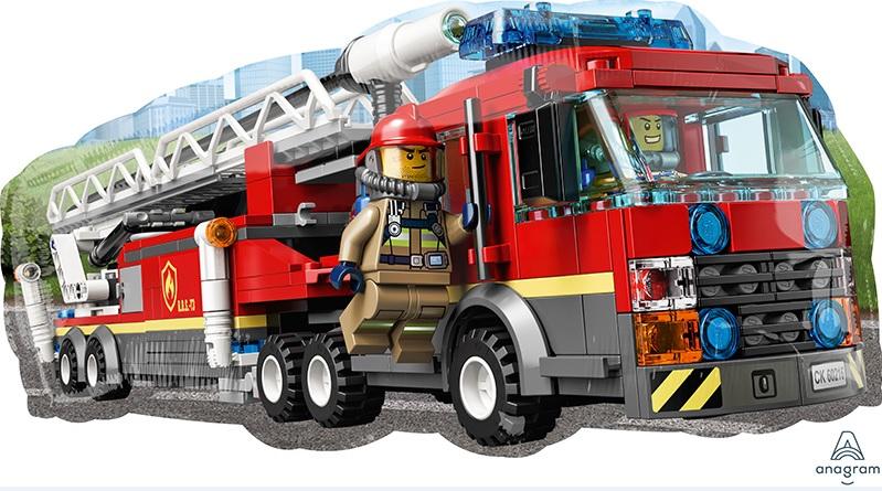 "29"" Lego City SuperShape Foil Balloon"