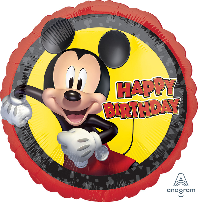 """18"""" Mickey Mouse Forever Birthday Foil Balloon"""