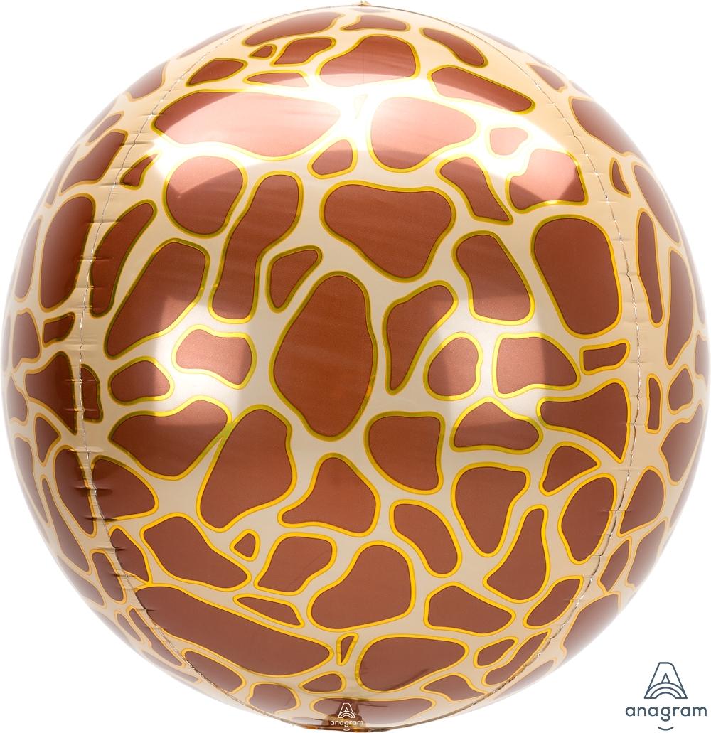 "16"" Orbz Giraffe Print Foil Balloon"