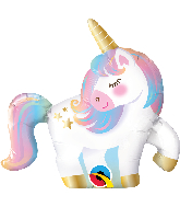 "14"" Airfill Only Shape Mini Unicorn Foil Balloon"