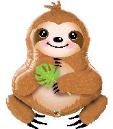 """39"""" Shape Sweet Sloth Foil Balloon"""