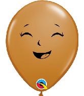 """5"""" Mocha (100 Per Bag) Happy/Sad Latex Balloons"""