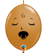 "6"" Qlink M. Brown (50 Per Bag) Pacifier Latex Balloons"
