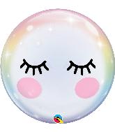 "22"" Eyelashes Bubble Balloon"
