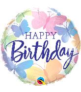 "18"" Happy Birthday Beautiful Butterflies Foil Balloon"
