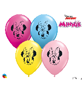 "5"" Minnie Mouse Face Latex Balloons (100 Per Bag)"