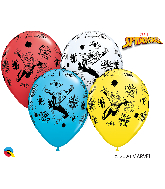 """11"""" Assorted (25 Per Bag) Marvel's Spider-Man Latex Balloons"""