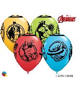 """11"""" Assorted (25 Per Bag) Marvel's Avengers Latex Balloons"""