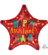 """18"""" Assistant's Day Red Star Foil Balloon"""