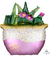 """26"""" Happy Mother's Day Satin Succulents Foil Balloon"""