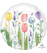 """18"""" Tulip Garden Foil Balloon"""