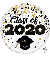"""18"""" Graduation Class of 2020 Confetti Foil Balloon"""