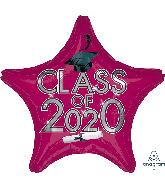 """18"""" Graduation Class of 2020 - Berry Foil Balloon"""