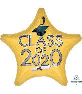 """18"""" Graduation Class of 2020 - Gold Foil Balloon"""
