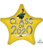 "18"" Graduation Class of 2020 - Yellow Foil Balloon"