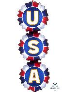 "38"" Satin Infused USA Bursts SuperShape Foil Balloon"