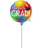 """4"""" Airfill Only Colorful Grad Foil Balloon"""