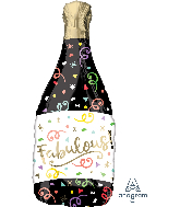 "36"" Fabulous Confetti Bottle Bubbly Personalize Foil Balloon"